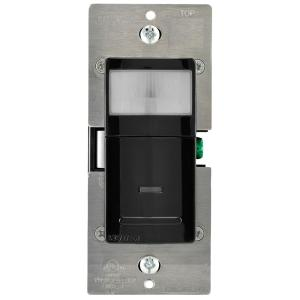 Decora Vacancy Motion Sensor In-Wall Switch, Manual-On, 15 A, Single Pole or 3-Way/Multi-sensor w/ Remote, Black