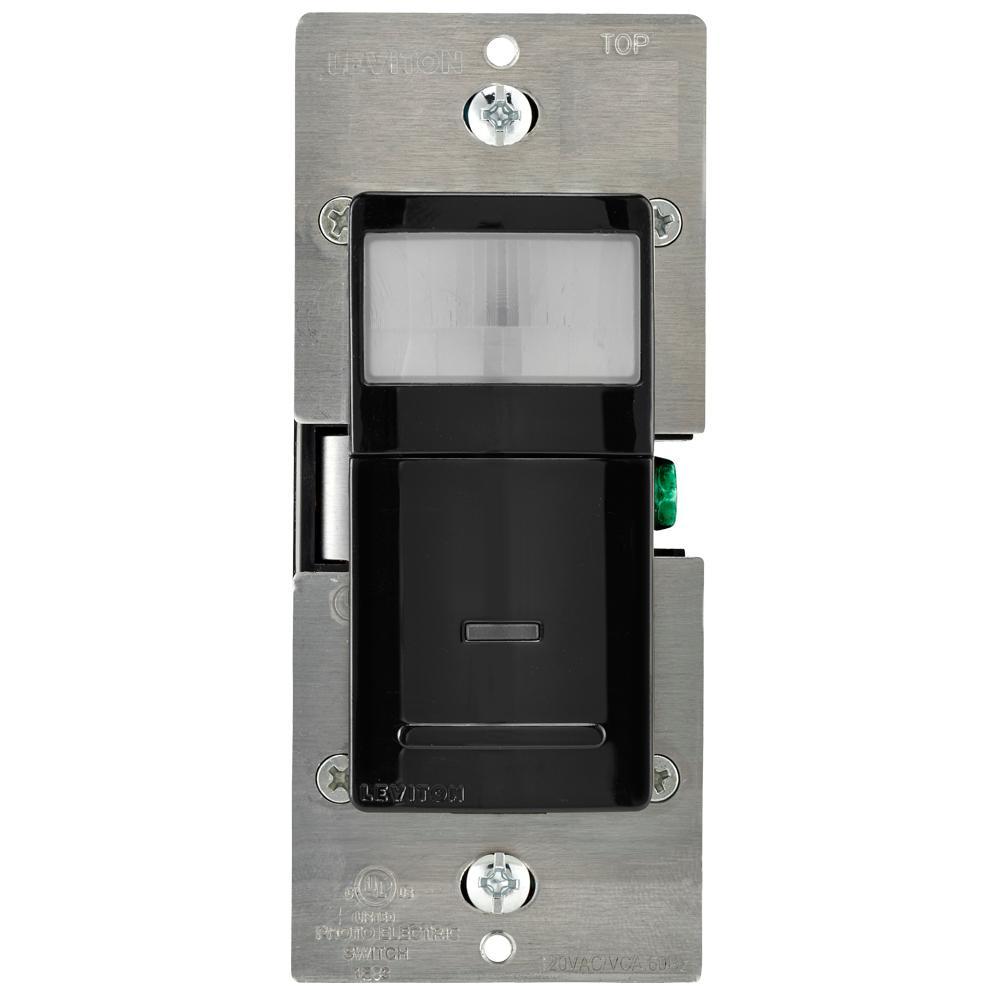 Decora Vacancy Motion Sensor In-Wall Switch, Manual-On, 15 A, Single Pole or 3-Way/Multi-sensor w/ Remote, Black