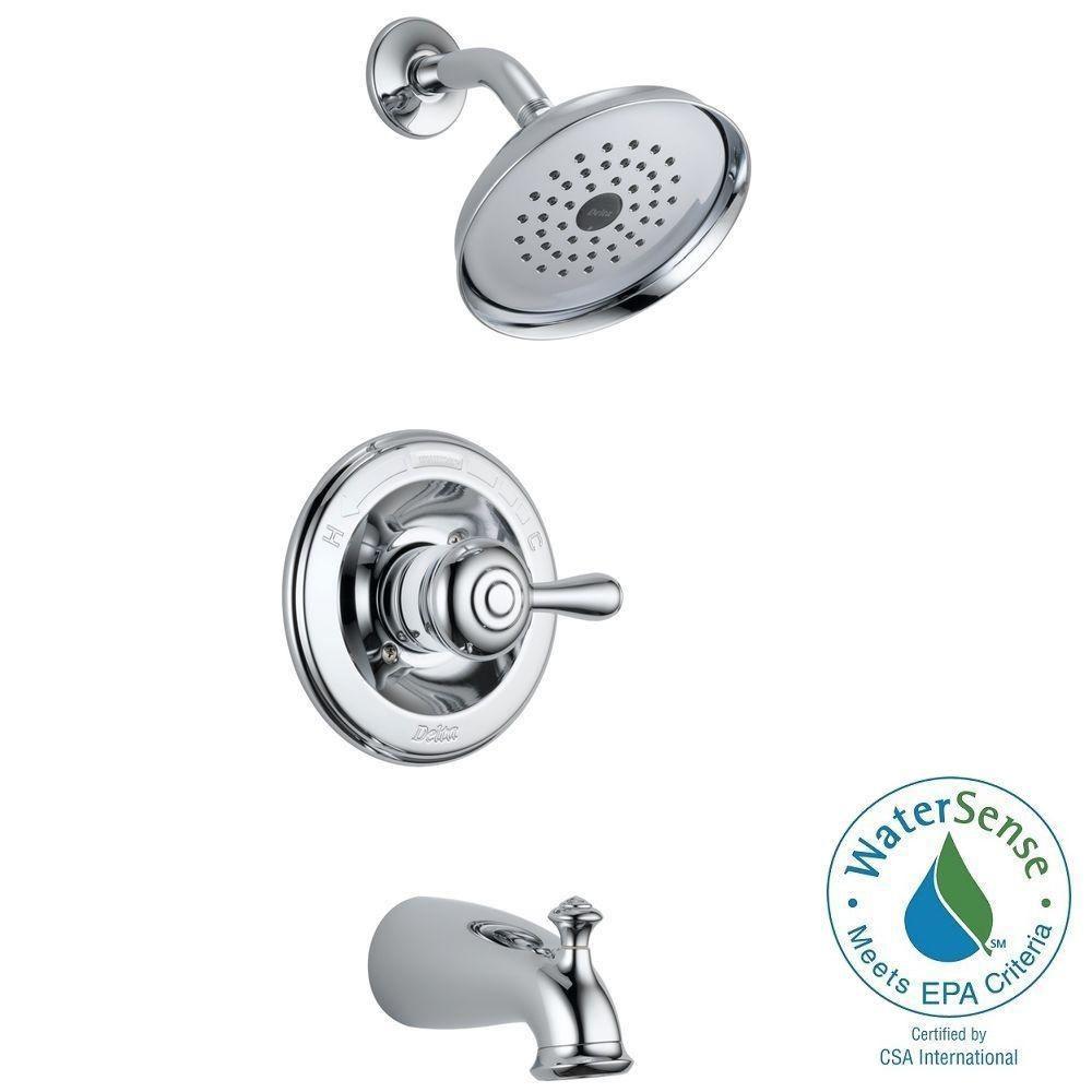 Delta Leland 1 Handle Tub And Shower Faucet In Chrome Gr