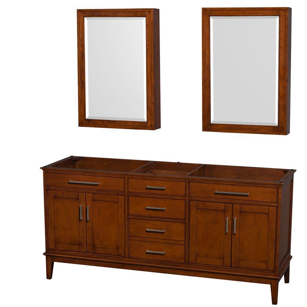 Hatton 71 in. Vanity Cabinet with Mirror Medicine Cabinet in Light