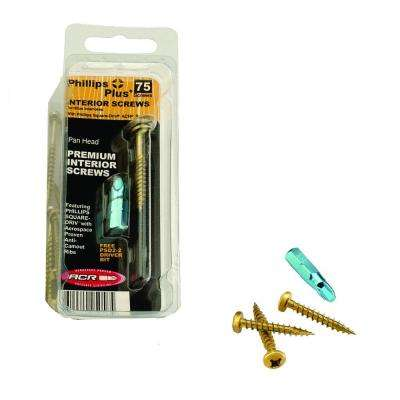 #7 5/8 in. Phillips-Square Pan-Head Wood Screws (75-Pack)