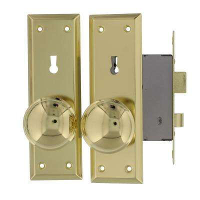 Brass Old Time Mortise Lock with Skeleton Key Replaces Most Mortise Interior Locks from Early 1900s