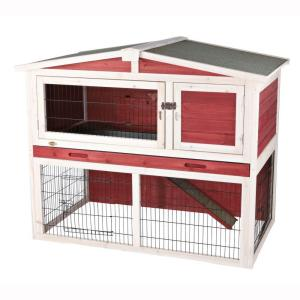 Trixie 4 ft x 2 5 ft x 3 5 ft medium rabbit hutch with for 5 foot rabbit hutch