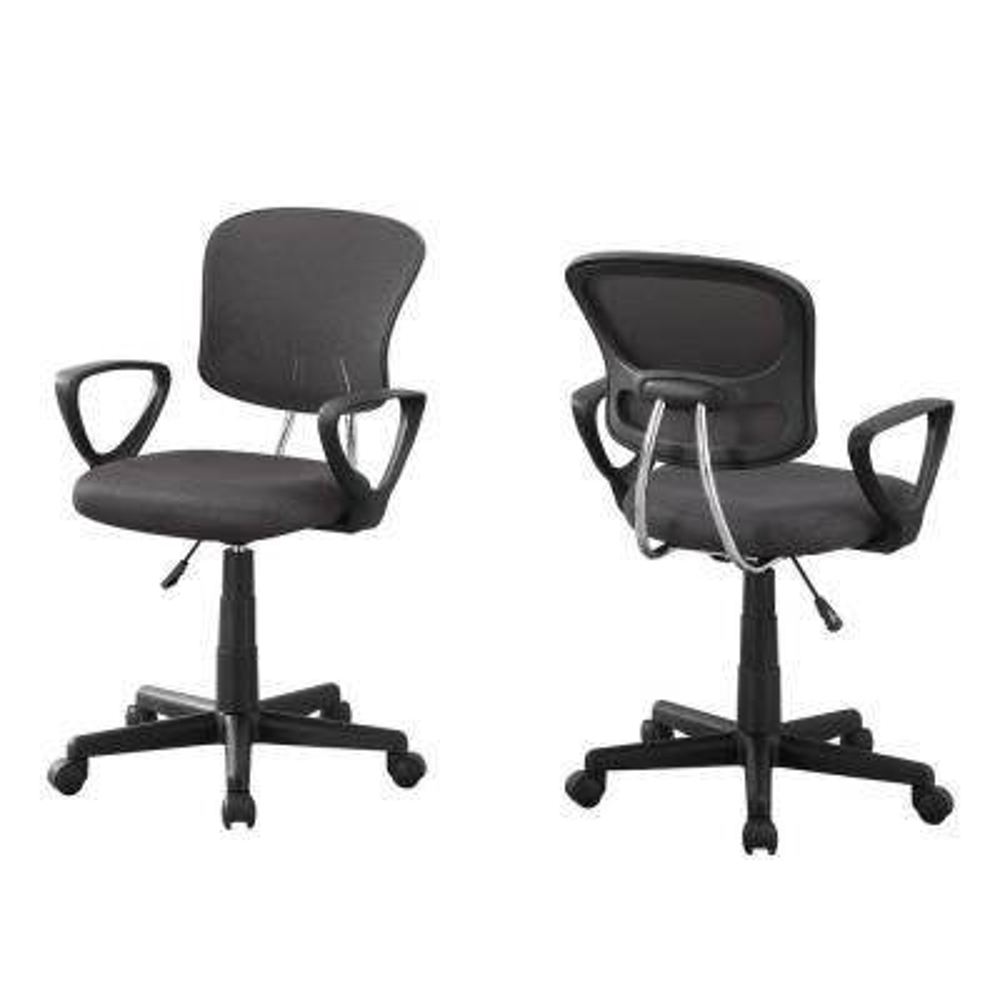 Jasmine 1-Piece Grey Office Chair