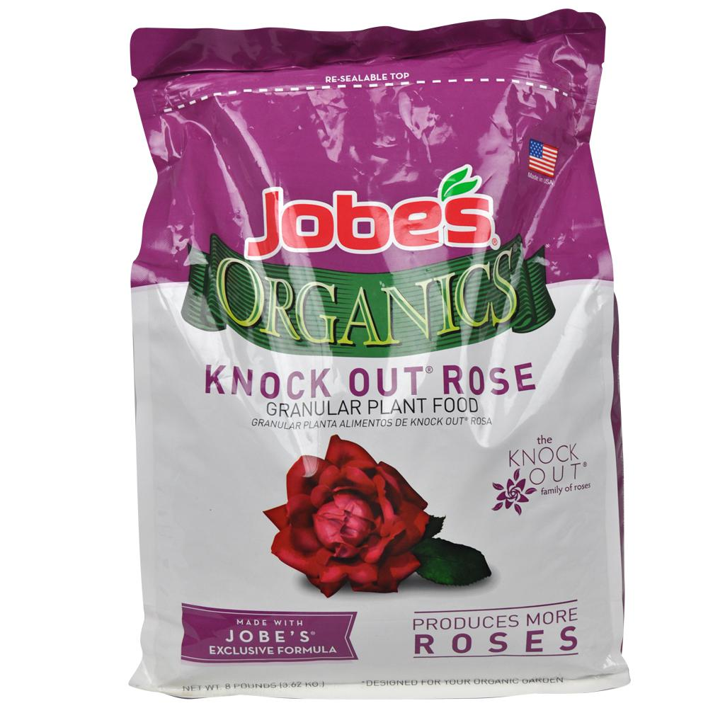 Fertilizing Knockout Roses: Jobe's Organics 8 Lbs. Organic Knock-Out Rose Plant Food