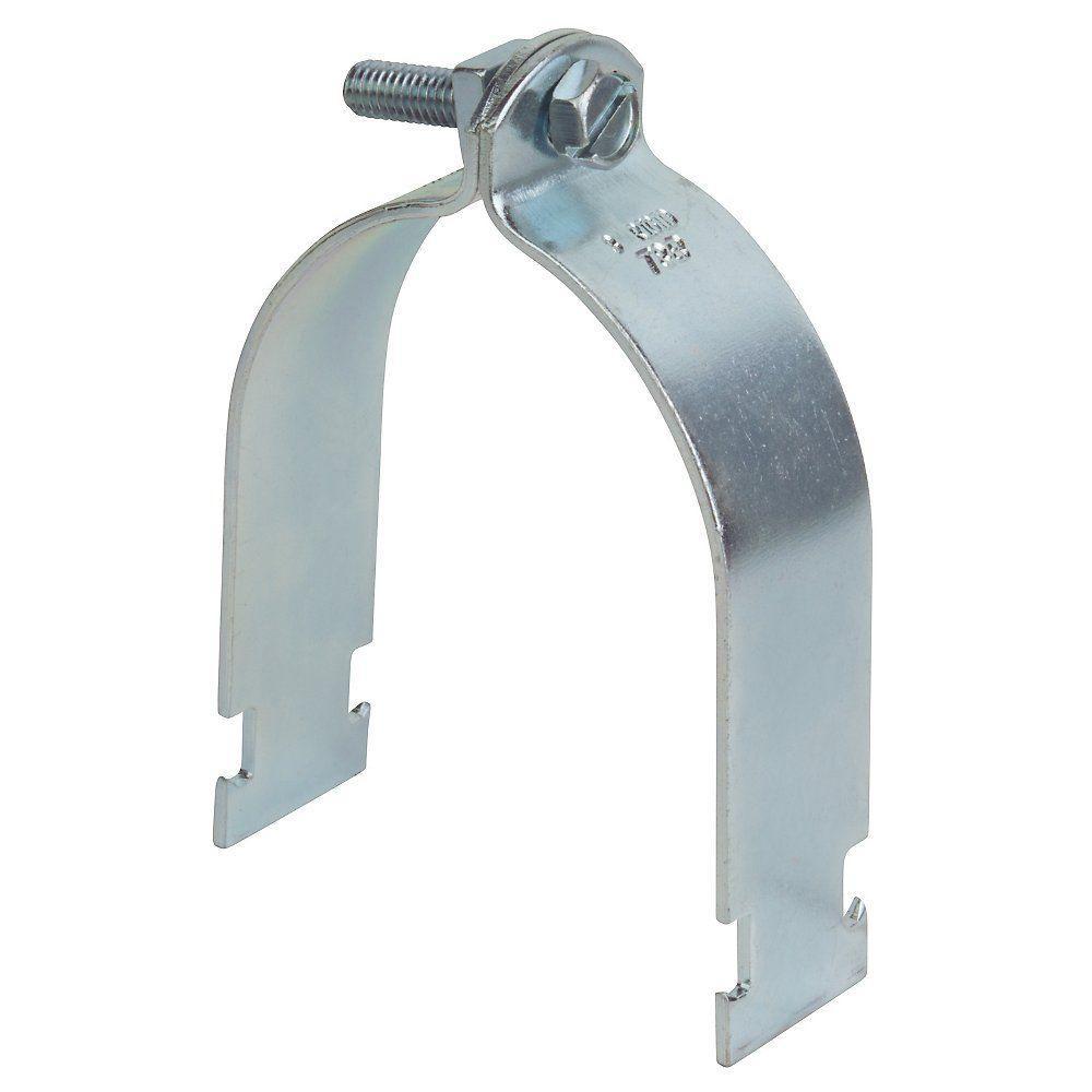 3 in. Pipe Strap - Silver Galvanized
