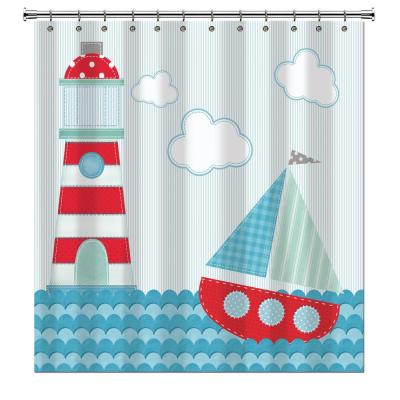 Ahoy 72 in. Sailboat Shower Curtain