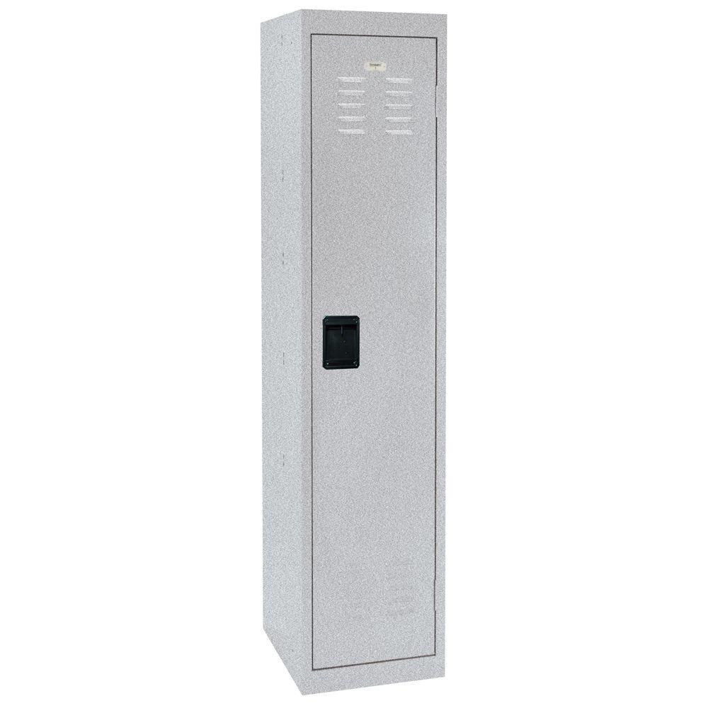 66 in. H Single-Tier Welded Steel Storage Locker in Multi Granite