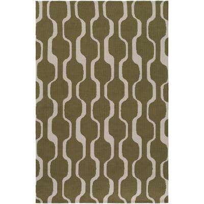 Joan Tilden Olive Green 8 Ft X 11 Indoor Area Rug