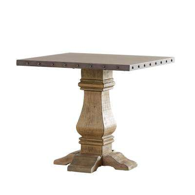 Hatton Distressed Natural Zinc-Top End Table