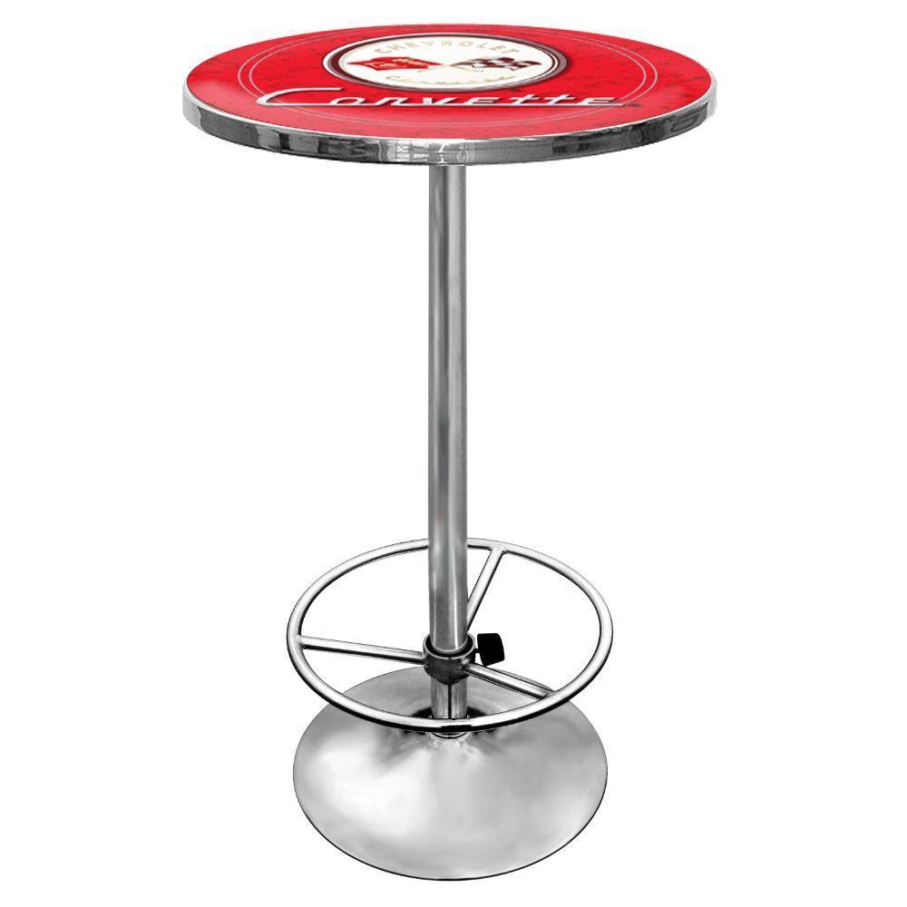 Trademark Corvette C1 Chrome Pub/Bar Table