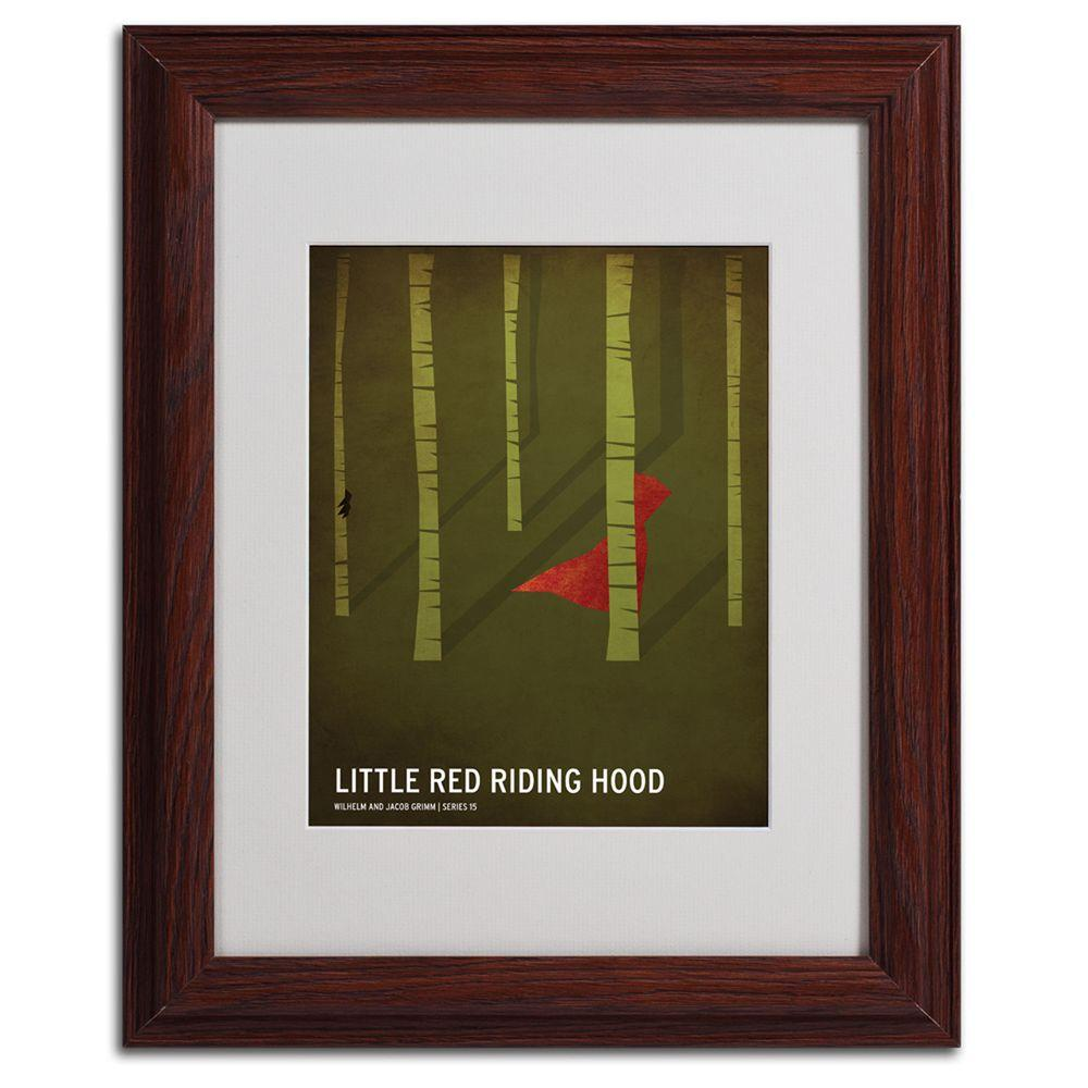 """null 11 in. x 14 in. """"Red Riding Hood"""" Matted Framed Art"""