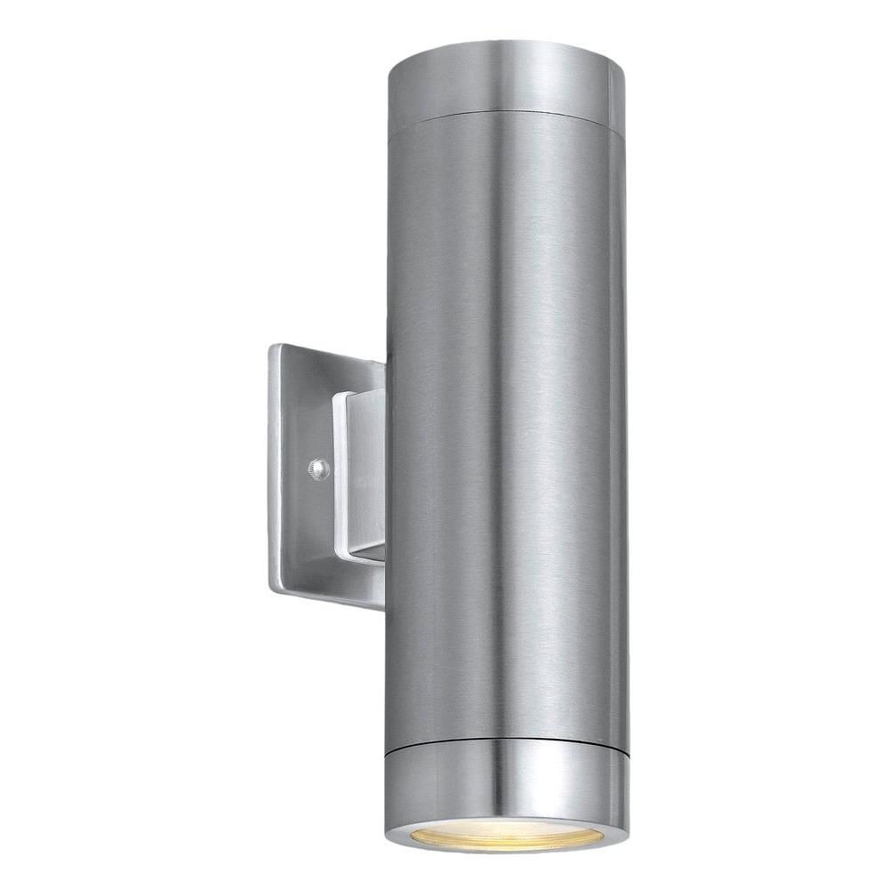 Eglo ascoli 2 light stainless steel outdoor wall mount cylinder eglo ascoli 2 light stainless steel outdoor wall mount cylinder light arubaitofo Choice Image