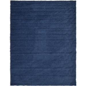 Solid Shag Sapphire Blue 10 ft. x 13 ft. Area Rug
