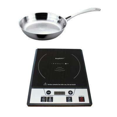 Tronic 12 in. Induction Cooktop in Black with 1 Element and 12 in. Stainless Steel Fry Pan