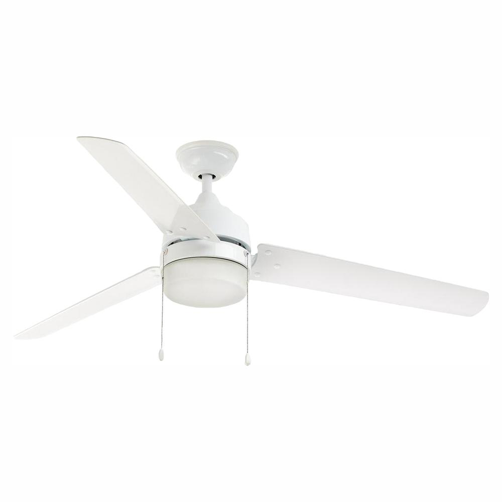 Home Decorators Collection Carrington 60 in. LED Indoor/Outdoor White Ceiling Fan with Light Kit