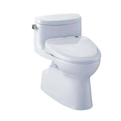Carolina II Connect+ 1-Piece 1.28 GPF Elongated Toilet with Washlet S350e Bidet Seat and CeFiOntect in Cotton White