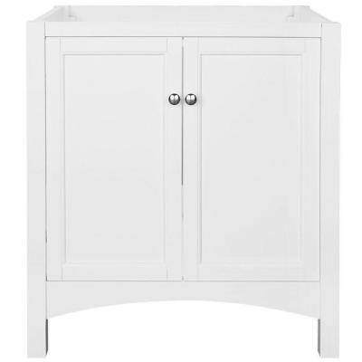 Haven 30 in. W x 21.625 in. D x 34 in. H Vanity Cabinet Only in White