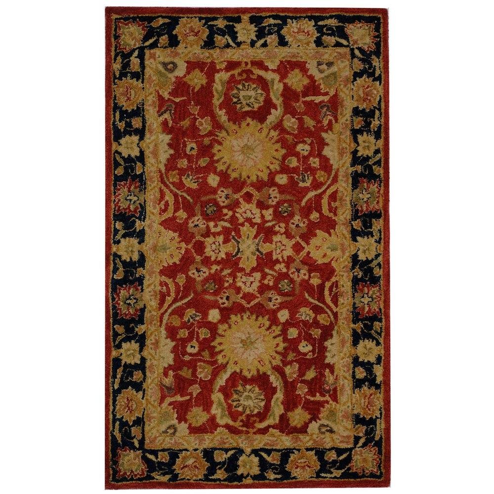 Anatolia Red/Navy 3 ft. x 5 ft. Area Rug