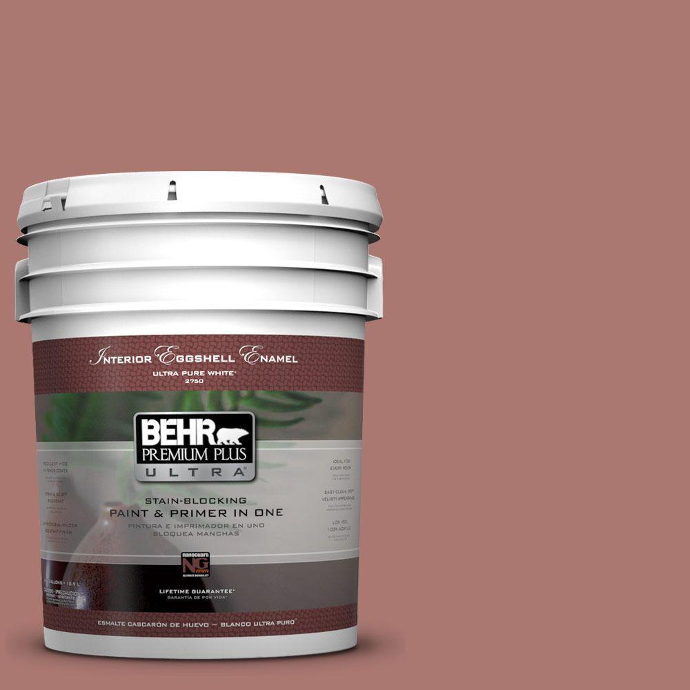 5 gal. #160F-5 Rum Spice Eggshell Enamel Interior Paint and Primer