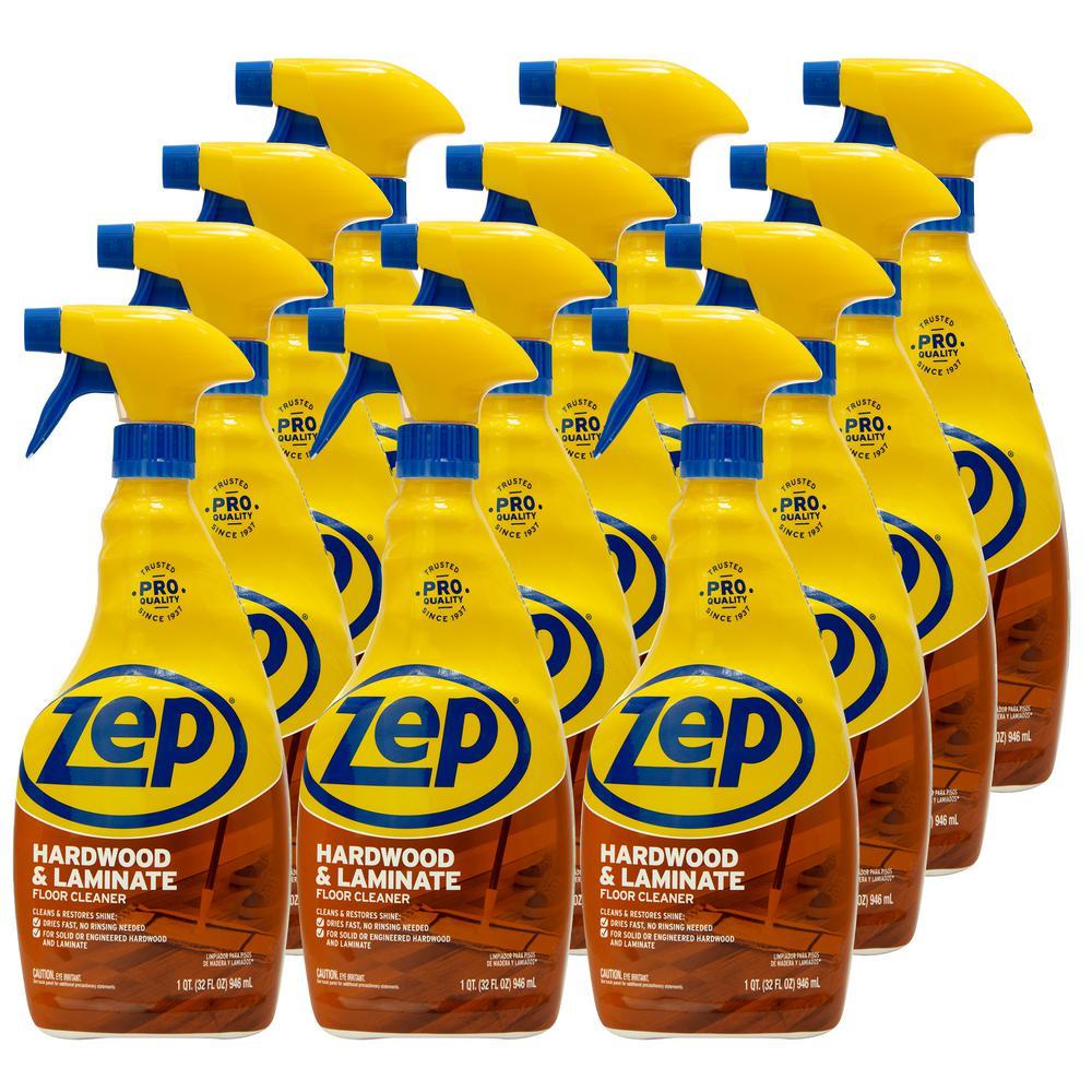 Zep 32 Oz Hardwood And Laminate Floor Cleaner Case Of 12