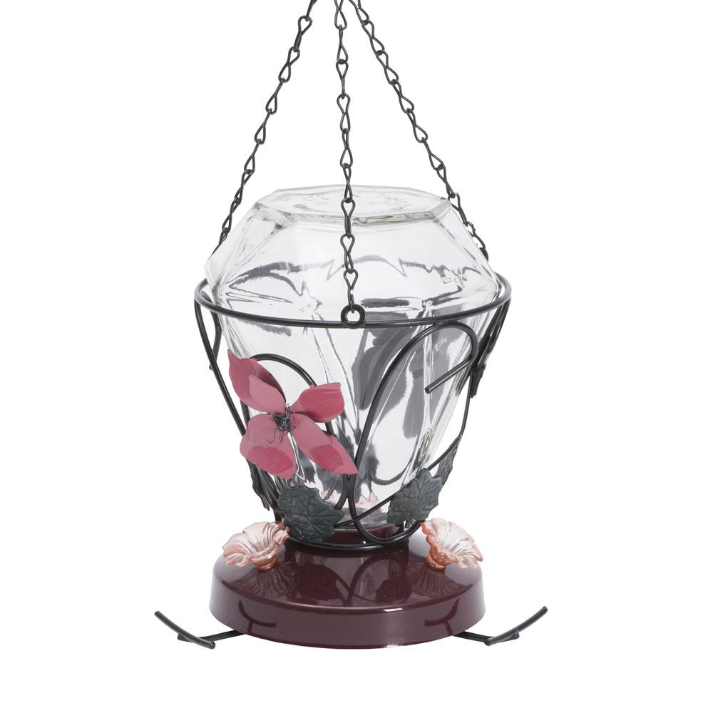 Blossom Edition 24 oz. Glass Hummingbird Feeder