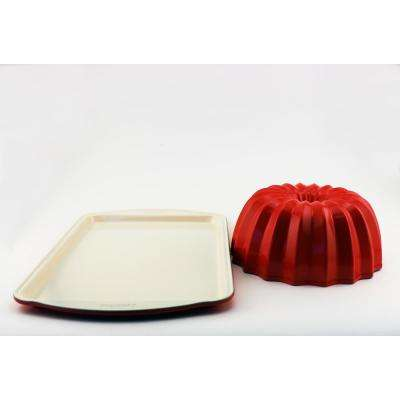 CooknCo 2-Piece Orange Bakeware Set