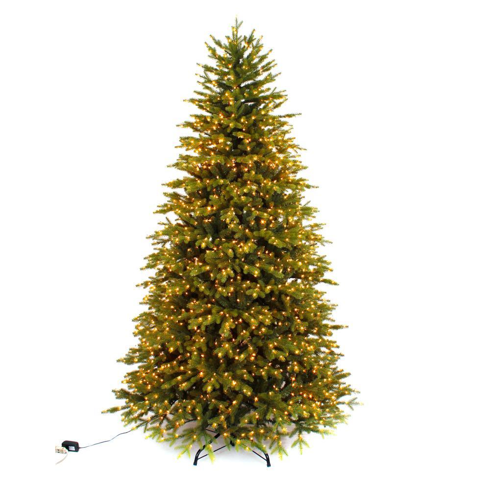 7.5 ft. Pre-Lit LED Aspen Fir Quick Set Artificial Christmas Tree ... - Micro-Dot - Pre-Lit Christmas Trees - Artificial Christmas Trees