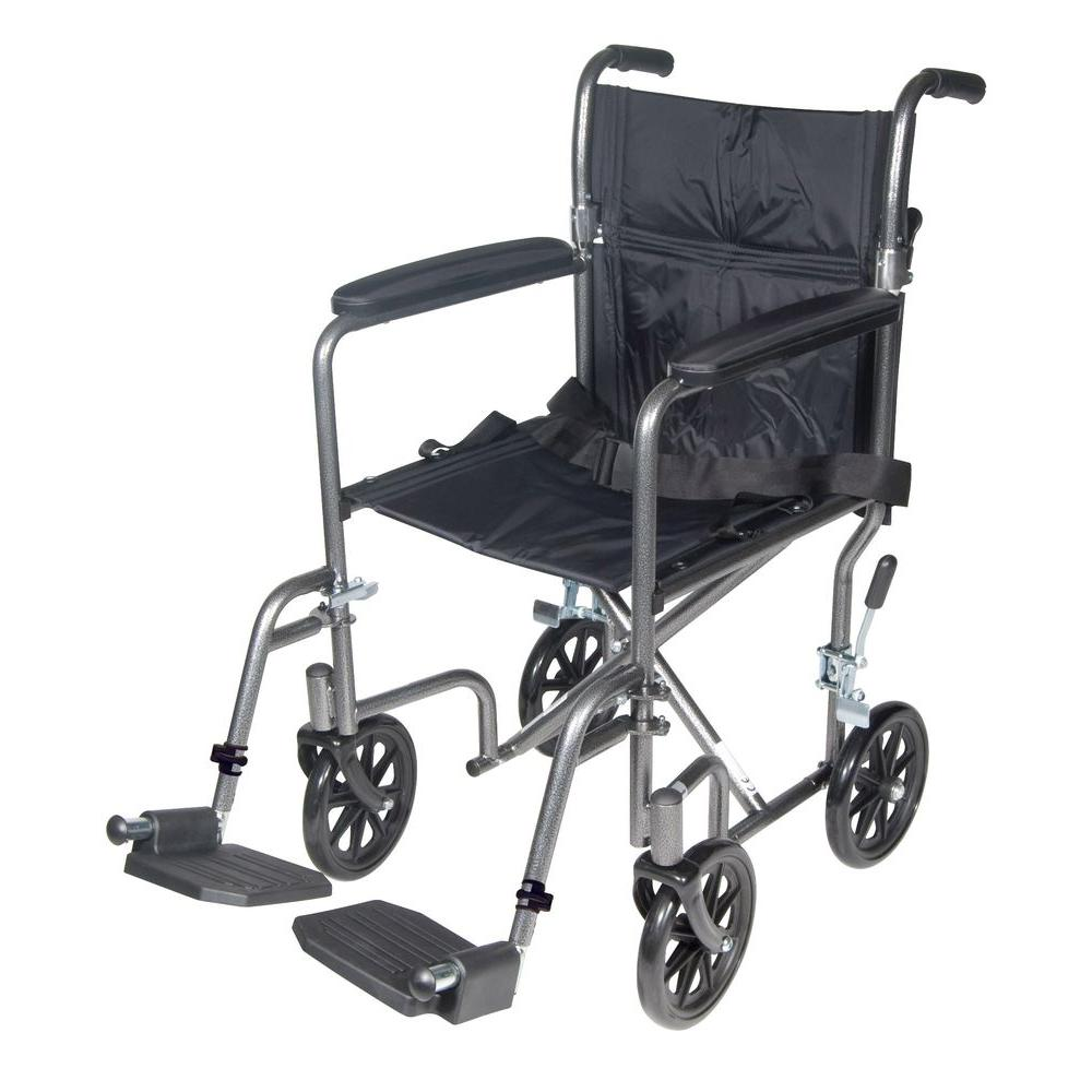 Drive Lightweight Steel Transport Wheelchair with Fixed Full Arms