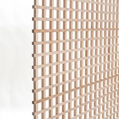 24 in. x 35-3/4 in. x 3/8 in. Unfinished Square Solid North American Hard Maple Lattice Panel Insert