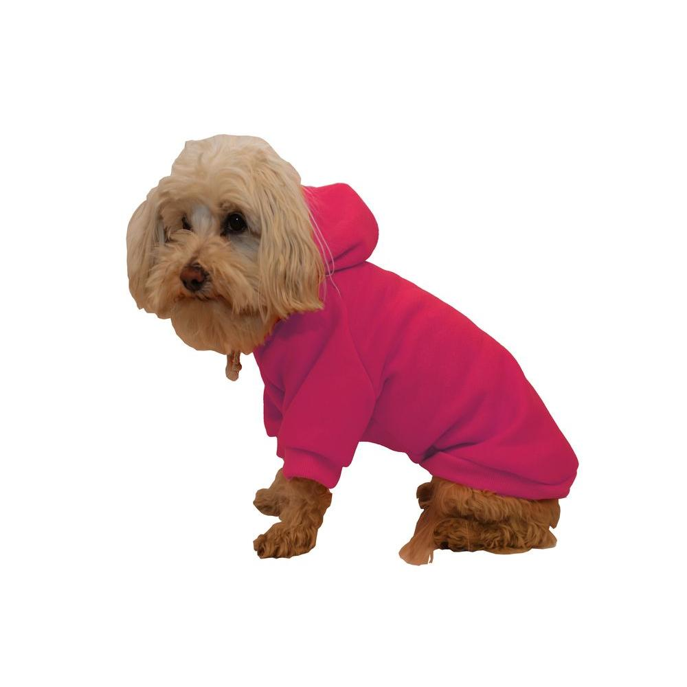 PET LIFE Large Pink Fashion Ultra-Soft Cotton Pet Dog Hoodie Hooded Sweater