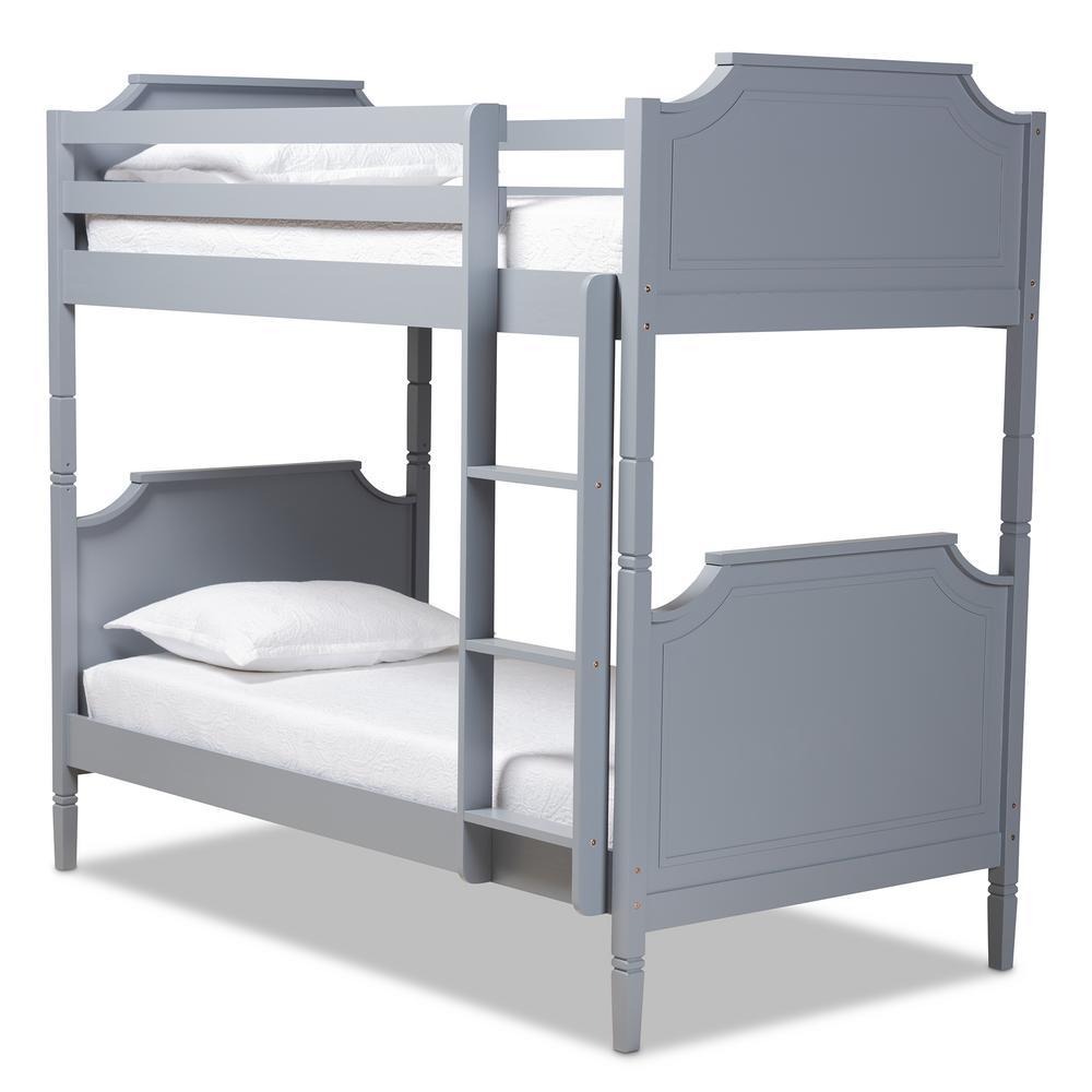 Mariana Grey Wood Twin Size Bunk Bed