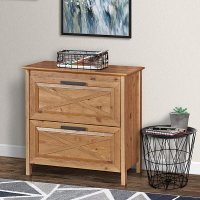Austin Rustic Brown Lateral File Cabinet with 2 Drawers