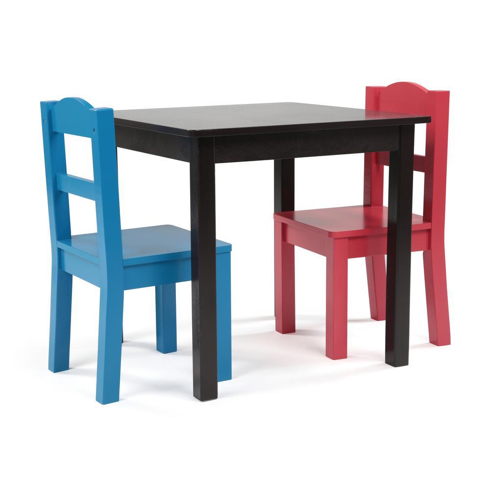 Amazing Tot Tutors Pierce 3 Piece Espresso Primary Kids Square Table Andrewgaddart Wooden Chair Designs For Living Room Andrewgaddartcom