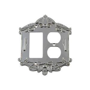Nostalgic Warehouse Victorian Switch Plate with Rocker and Outlet in Bright... by Nostalgic Warehouse