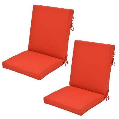 CushionGuard Ruby Outdoor Dining Chair Cushion (2-Pack)