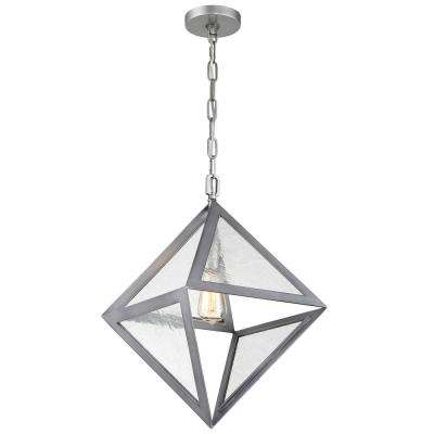 Rogue Decor Overrule 1-Light 12.5 in. H Brushed Silver Coffee Bronze Pendant