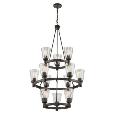 12-Light Oil Rubbed Bronze Chandelier