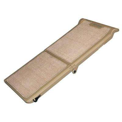 42 in. L x 16 in. W x 4 in. H Tan Indoor Bi-Fold Half Ramp