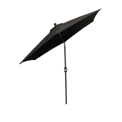 9 ft. Outdoor Market Patio Umbrella with Crank/Tilt in Black