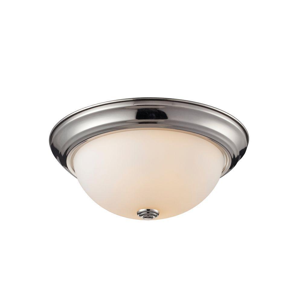 Tulen Lawrence 2-Light Chrome Incandescent Ceiling Flush Mount