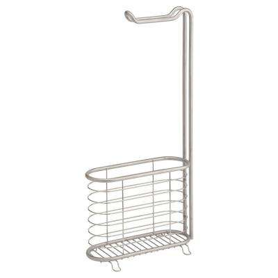 Forma Ultra Magazine and Toilet Paper Holder in Brushed Stainless Steel