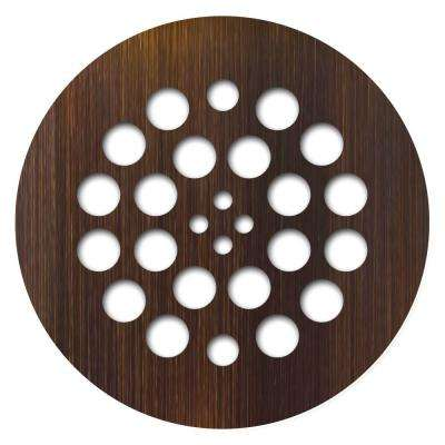 Tile Redi 4.25 in. x 4.25 in. Round Drain Plate in Oil Rubbed Bronze