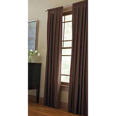 Classic Cotton Light Filtering Window Panel in Tilled Soil - 50 in. W x 63 in. L