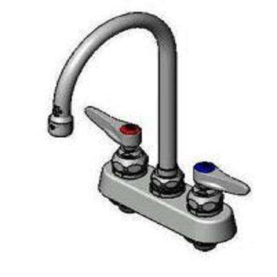 4 in. 2-Handle Workboard Faucet in Chrome with Gooseneck Nozzle