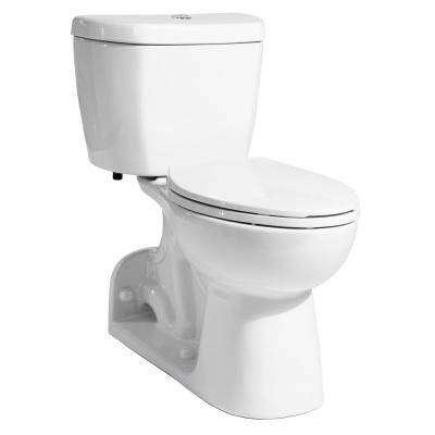 2-Piece 0.95 GPF Rear-Outlet Single Flush Elongated Toilet with Stealth Technology in White, Seat Not Included