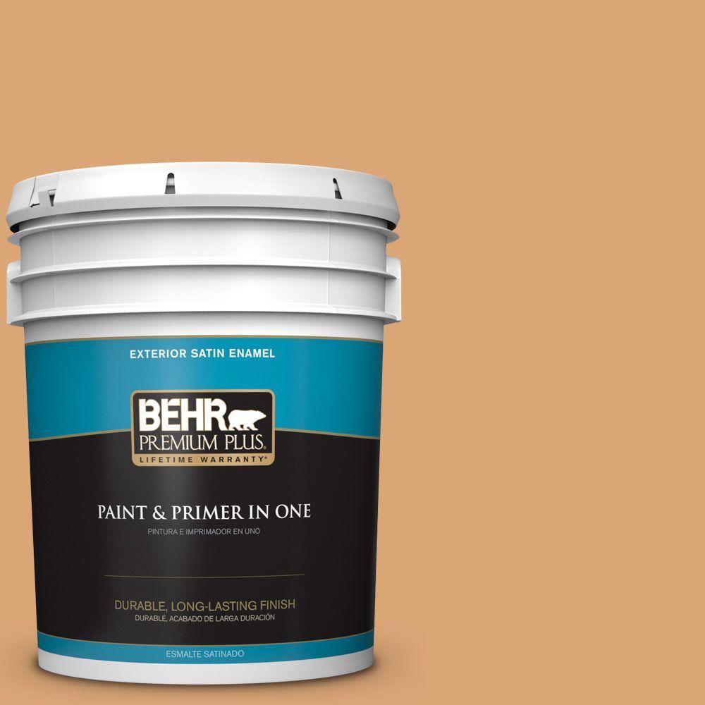 5-gal. #BIC-14 Fresh Nectar Satin Enamel Exterior Paint