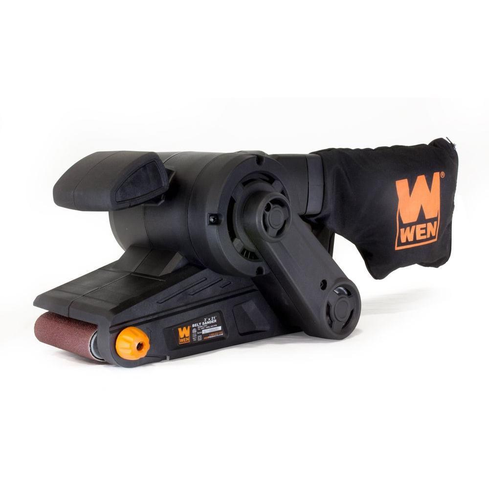 Wen 7-Amp 3 inch x 21 inch Corded Belt Sander with Dust Bag by WEN