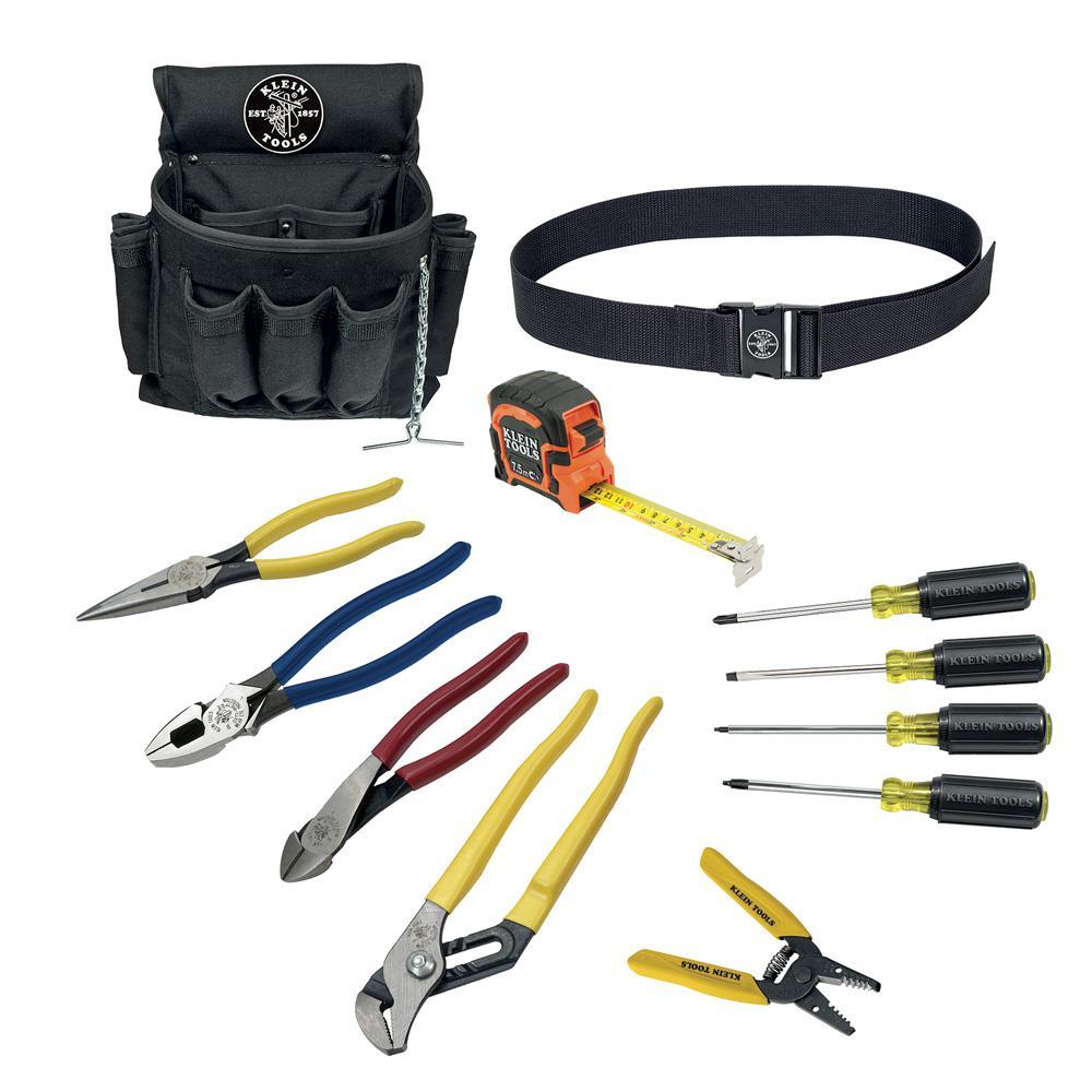 Klein Tools Tool Kit (12-Piece) on pneumatic tools, networking tools, cutting tools, programming tools, foundation tools, precision tools, hand tools, operation tools, framing tools, power tools, insulation tools, torque tools, three tools,