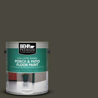1 gal. #780F-7 Stealth Jet Low-Lustre Interior/Exterior Porch and Patio Floor Paint